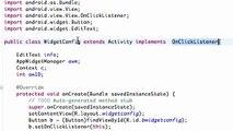 Android Application Development - 165 - Setting up Widget Configuration Class