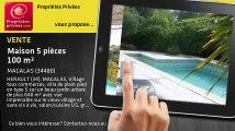 A vendre - maison - MAGALAS (34480) - 5 pièces - 100m²