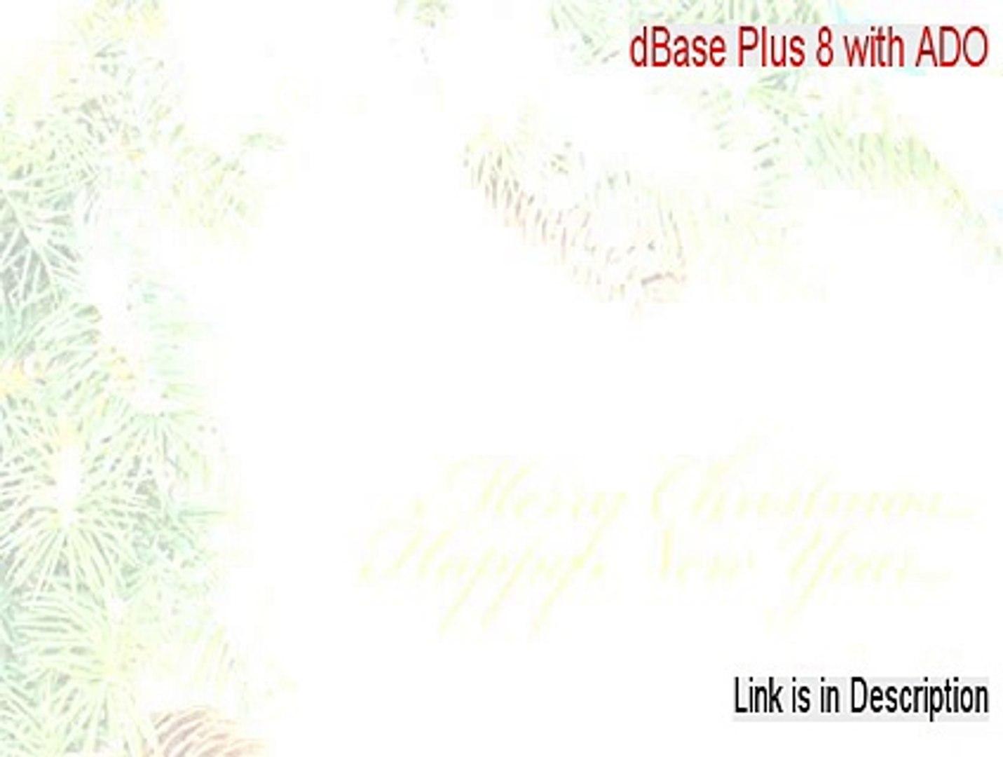 dBase Plus 8 with ADO Keygen - dbase 8 with ado (2015)