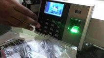 How to configure ZK F18 biometric time attendance fingerprint reader