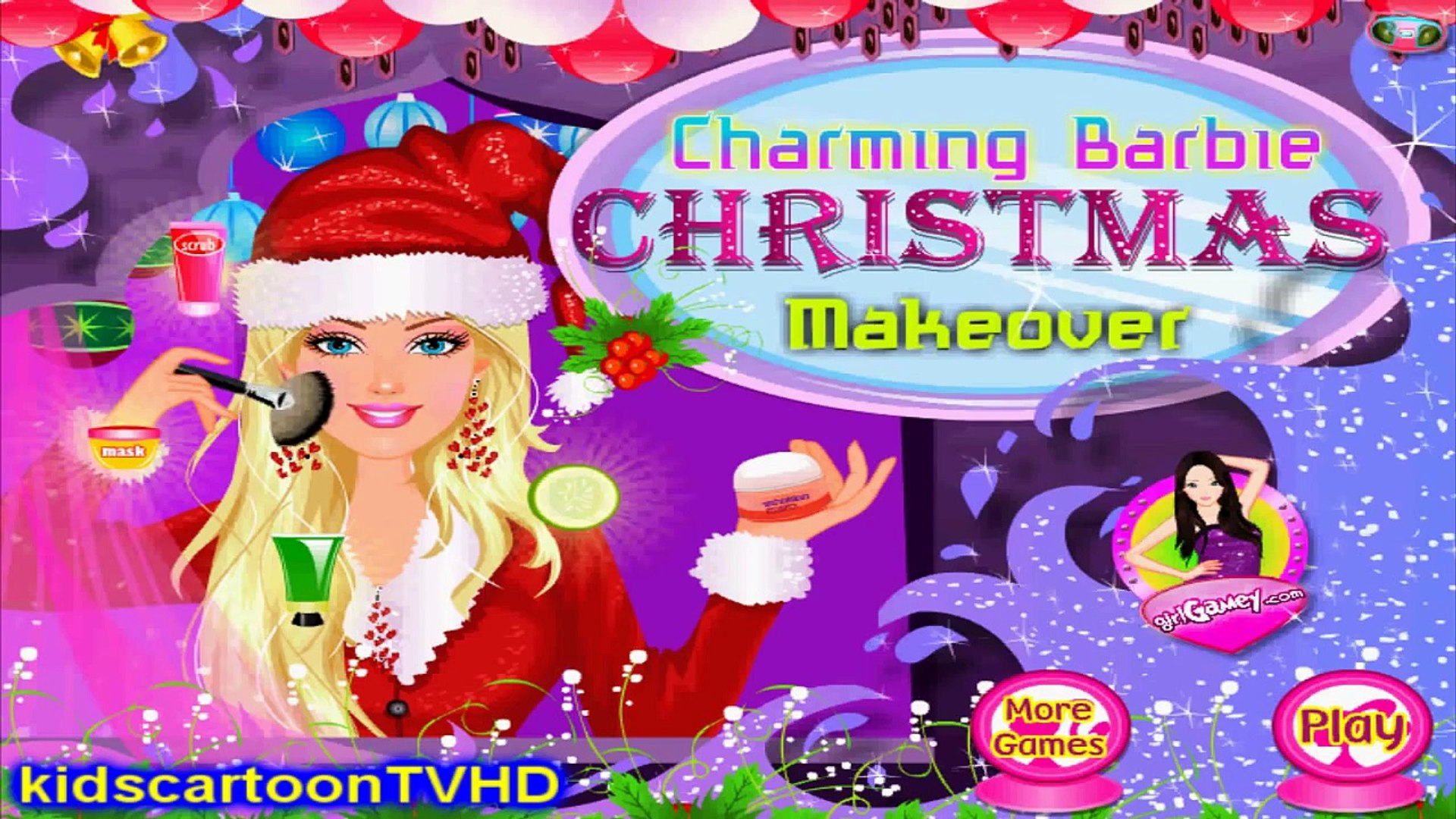 Charming Barbie Christmas Makeover - Kids Game Movie