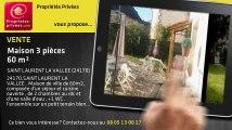 A vendre - maison - SAINT LAURENT LA VALLEE (24170) - 3 pièces - 60m²