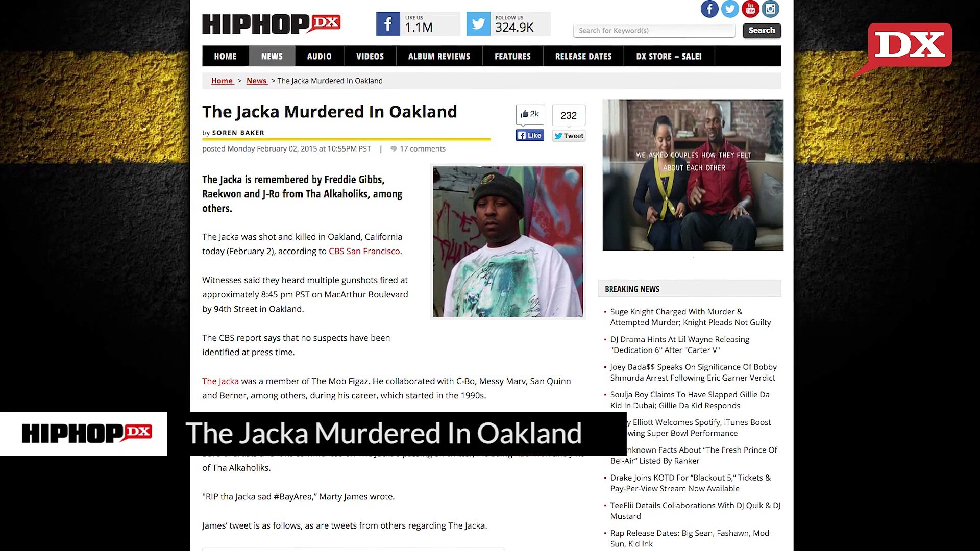 The Jacka Murdered In Oakland & Soulja Boy Claims He Smacked Gillie Da Kid - Watch Hip Hop Music