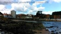 5 Febrero: Paisaje y ambiente playa y puerto de Candás, Asturias