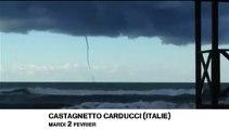 Des trombes marines jumelles filmées au large des côtes italiennes