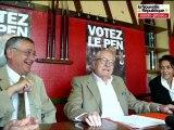 Point presse de Jean-Marie Le Pen à Châtellerault