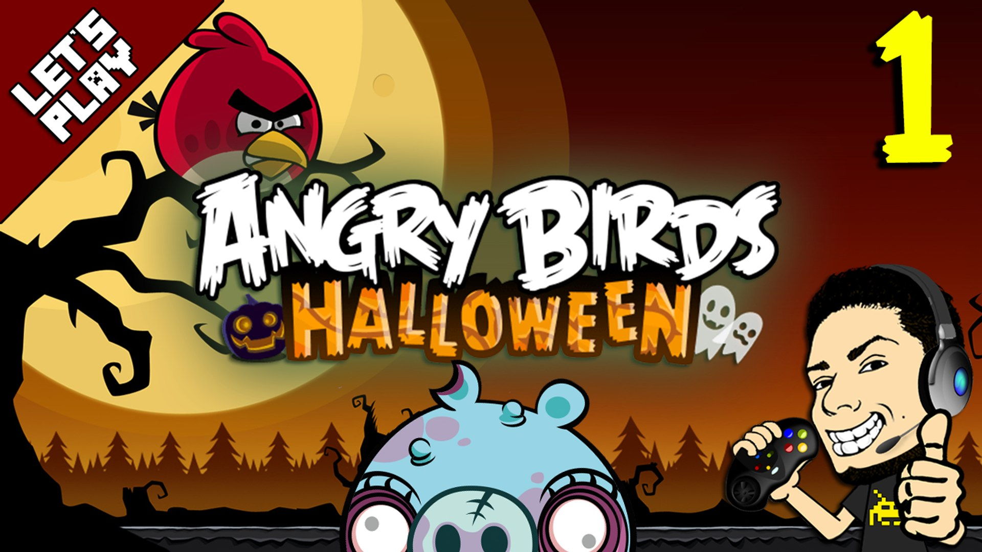 Angry Birds Hammier Things let's play angry birds halloween hd episode #1 gameplay & walkthrough