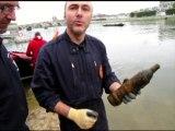 VIDEO. Blois : Un obus datant de la Première guerre mondiale sous le pont Gabriel