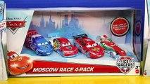 Disney Pixar Cars Ice Racers Lightning McQueen Plus Moscow Racers 4 Pack Francesco