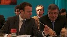 Alain Vidalies et Emmanuel Macron président la réunion plénière du Comité stratégique de la filière navale
