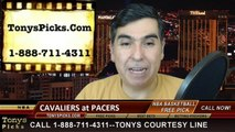 Indiana Pacers vs. Cleveland Cavaliers Free Pick Prediction NBA Pro Basketball Odds Preview 2-6-2015