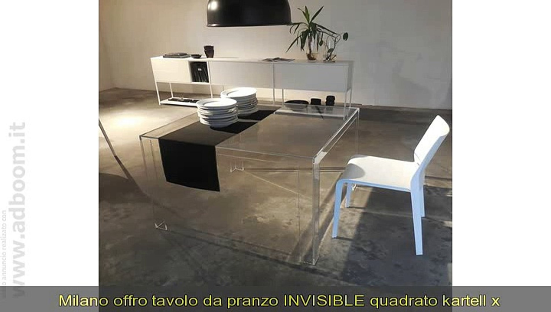 Tavoli Da Pranzo Kartell.Milano Tavolo Da Pranzo Invisible Quadrato Kartell X Cucina