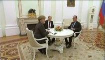 Vladimir Poutine recevait François Hollande et Angela Merkel au Kremlin  [06.02.2015]