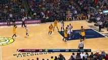 LeBron James Hook Shot - Cavaliers vs Pacers - February 6, 2015 - NBA Season 2014-15