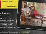 A vendre - maison - SALLES D AUDE (11110) - 7 pièces - 160m²