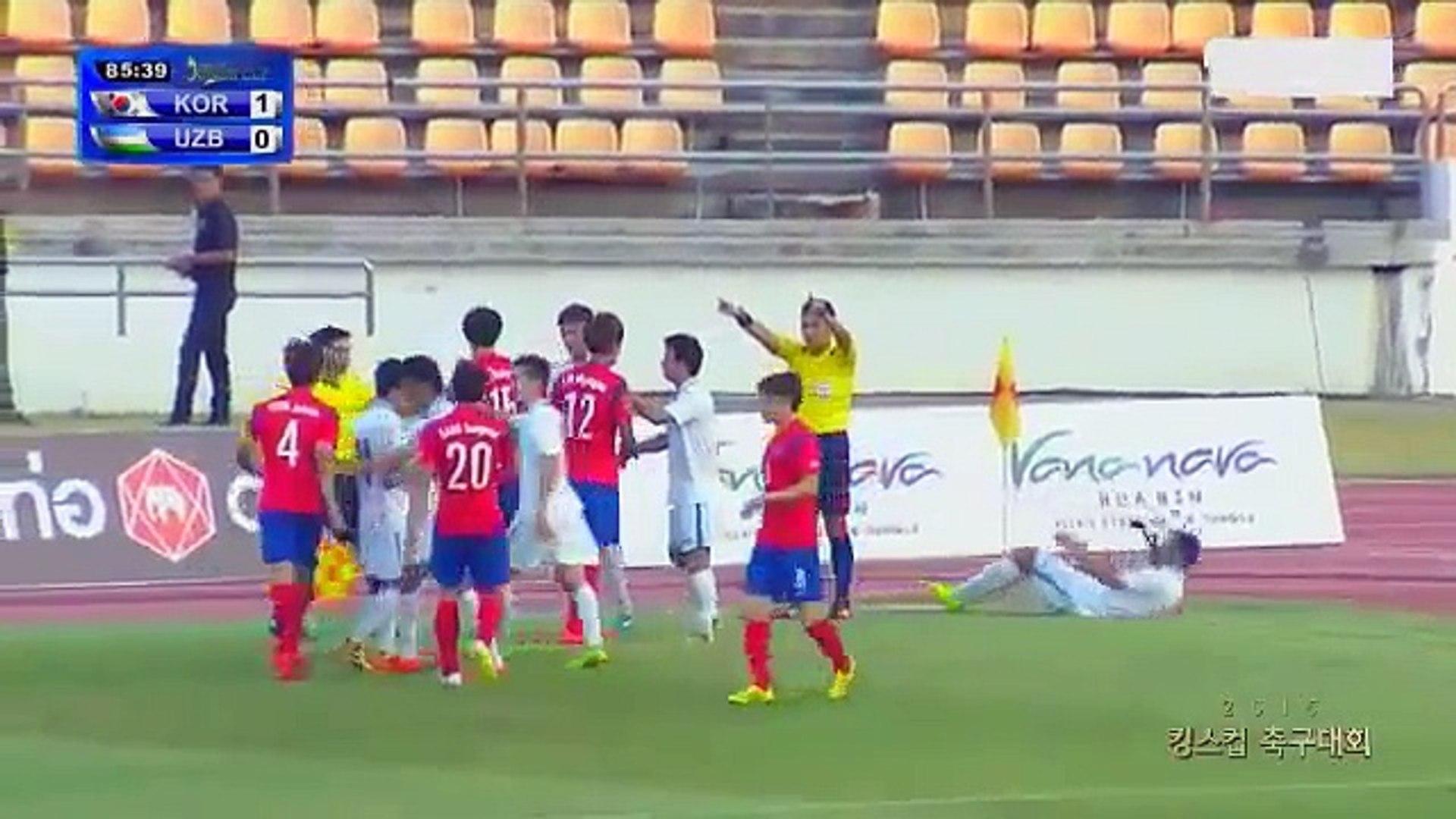 Voadora e soco na cara marcam partida entre Coréia do Sul e Uzbequistão Sub-22