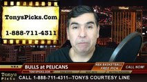 New Orleans Pelicans vs. Chicago Bulls Free Pick Prediction NBA Pro Basketball Odds Preview 2-7-2015