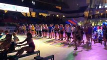 Finale du relais féminin CF UNSS Aviron Indoor