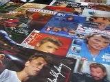 expo de vinyls de johnny hallyday par jean-claude et jean-noel Brun
