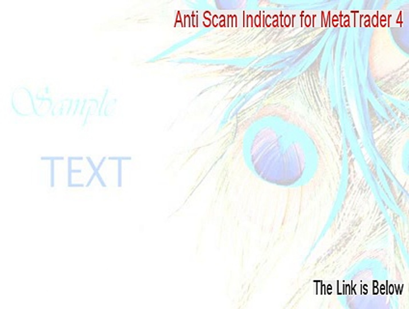 Anti Scam Indicator for MetaTrader 4 Cracked [Download Here] - video  dailymotion