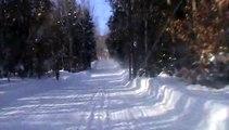 Randonnée motoneige 07.02.2015 vidéo 10 retour dans le sous bois.