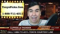 Oklahoma City Thunder vs. LA Clippers Free Pick Prediction NBA Pro Basketball Odds Preview 2-8-2015