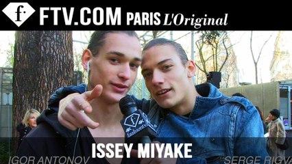 Issey Miyake Models at Work | Paris Men Fashion Week F/W15 | FashionTV