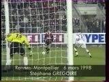 28/03/98 : Stéphane Grégoire (89') : Rennes - Montpellier (2-0)