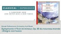 Antonin Dvorak : Symphonie n°9 en mi mineur, Op. 95 du nouveau monde : Allegro con fuoco
