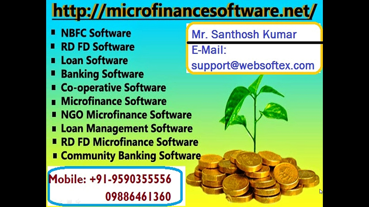Loan Software, Co-Operative Software, Microfinance Software, Banking Software, RD FD Software