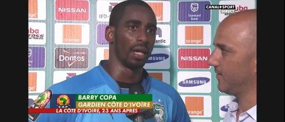 Can2015-L'émotion de Copa Barry après une victoire magique