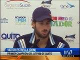 Víctor Estrella Burgos, el campeón del primer Abierto de Ecuador en Quito, ATP 250