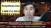 Baylor Bears vs. Oklahoma St Cowboys Free Pick Prediction NCAA College Basketball Odds Preview 2-9-2015