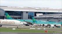 Emirates Airlines Boeing 777-300ER Takeoff Dublin Airport For Dubai United Arab Emirates