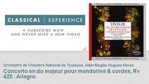 Antonio vivaldi : Concerto en do majeur pour mandoline & cordes, Rv 425 : Allegro