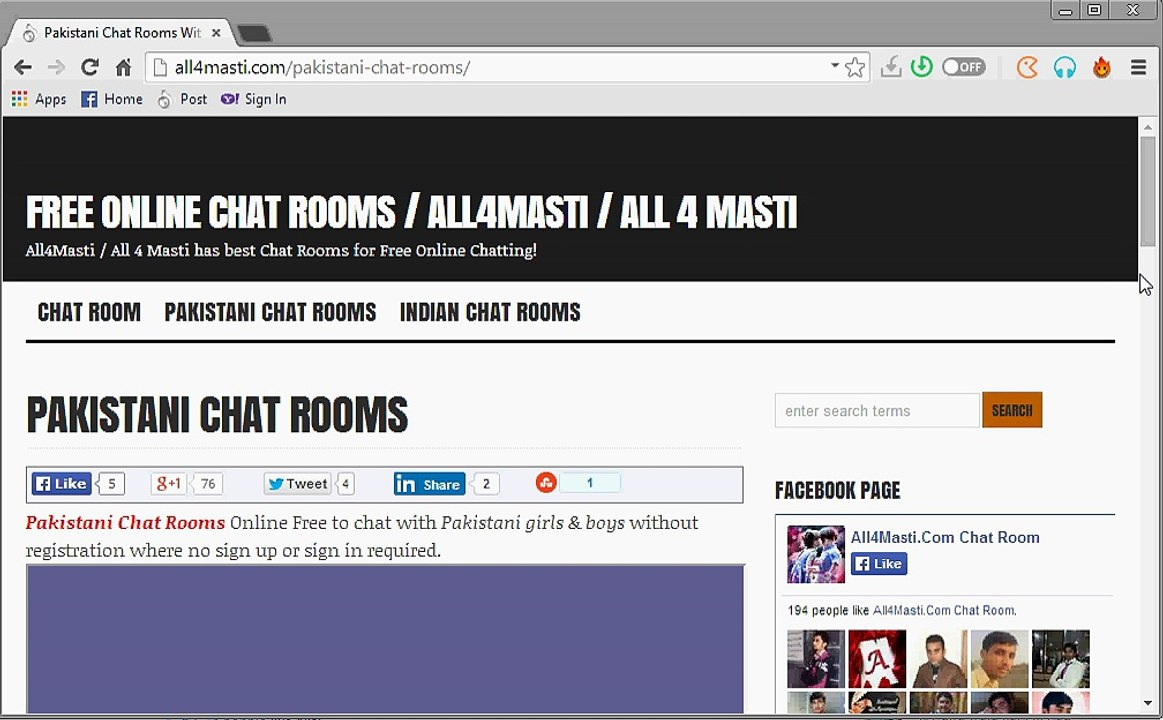 Chat room no registration required