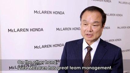 HONDA F1 伊東社長のインタビュー - Interview of Takanobu_Ito