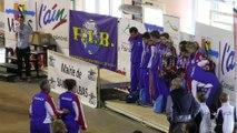 L'équipe de France entonne la Marseillaise, Tournoi International Jean Védrine, Sport Boules, Saint-Vulbas 2015