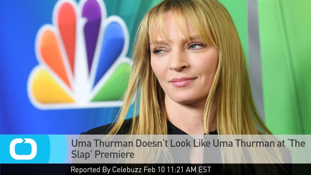 Uma Thurman Doesn't Look Like Uma Thurman at 'The Slap' Premiere