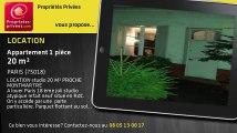 A louer - appartement - PARIS (75018) - 1 pièce - 20m²