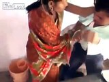 Indian Wife Brutally Beaten Up Her Husband For Seeing Adu!t 18+ Movies