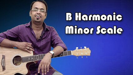 How To Play - B Harmonic Minor Scale - Guitar Lesson For Beginners