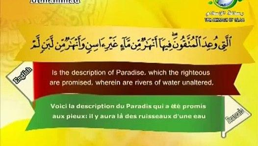 سورة محمد القارئ سعد الغامدي - Surat Muhammad Saad el