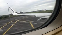 Ryanair flight from knock airport ireland to london stansted airpot  united kingdom
