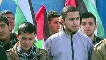 Protesto em Gaza por morte de muçulmanos nos EUA