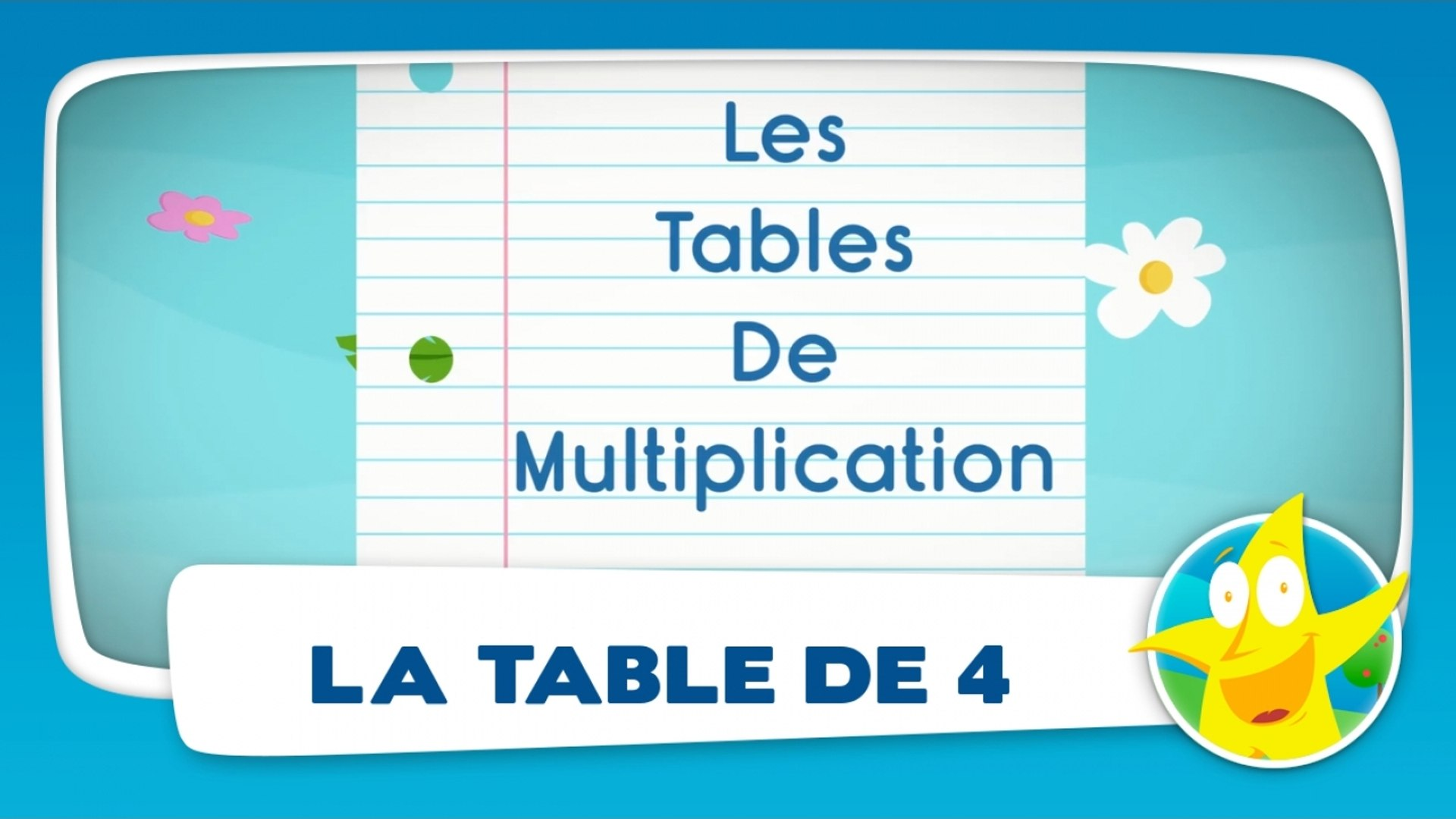 Comptines Pour Enfants La Table De 4 Apprendre Les Tables De
