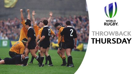 David Campese produces unbelievable skill to sink All Blacks - Australia v New Zealand RWC 1991