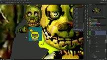 ► SPEEDPAINT - Five Nights at Freddy's 3 - Golden Bonnie - Pixel art animation