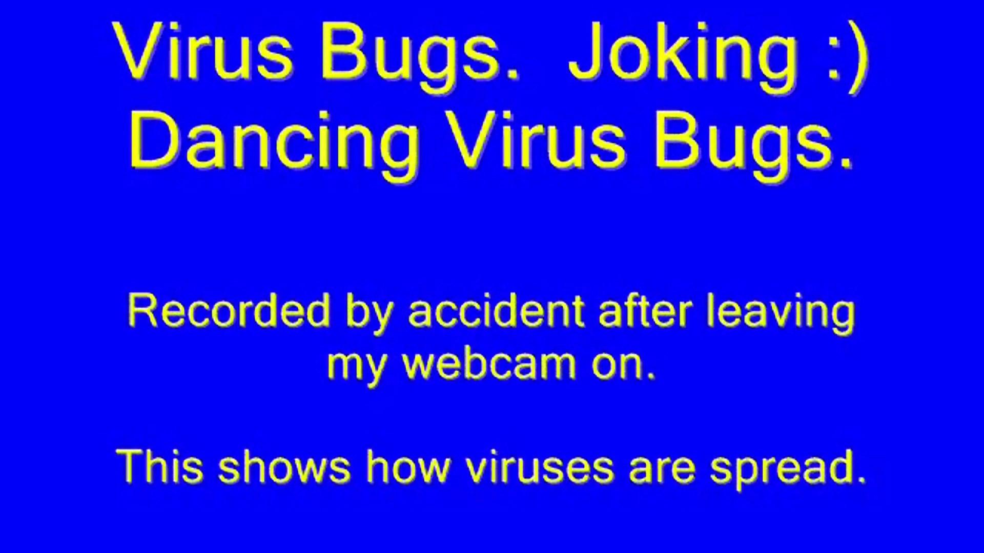 Virus Bugs. Joking Dancing Virus Bugs. Animation