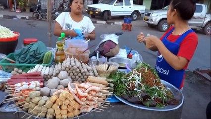 stret foods street food asian food thai food exotic food laos food street food laos vientiane